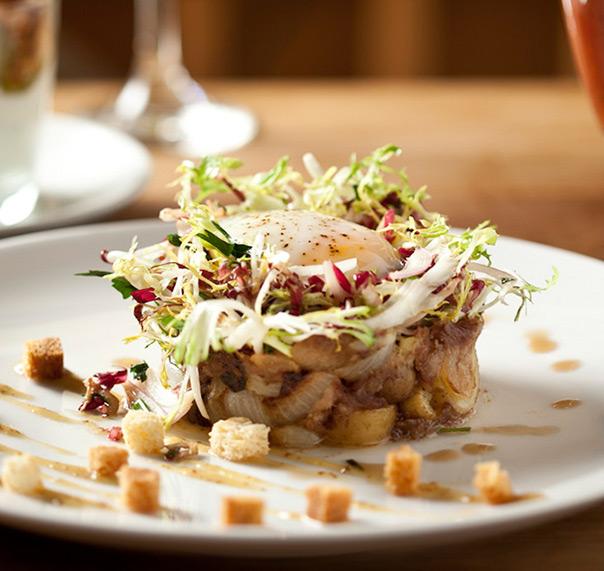 Restaurant dish on table